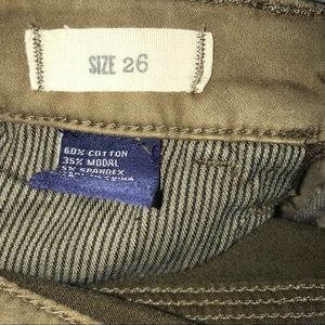 Madewell Jeans - Madewell Skinny Skinny Ankle in Brown Olive Sz 26